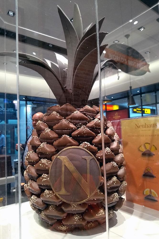 Ananas z czekolady tylko w Brukseli